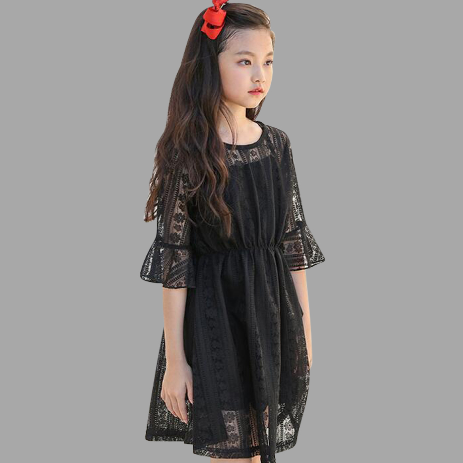 Kids Dresses For Girls 2018 Spring Autumn Girls Dresses Lace Style Teenage Princess Party Dress 4 5 7 9 11 13 14 Years uoipae party dress girls 2018 autumn