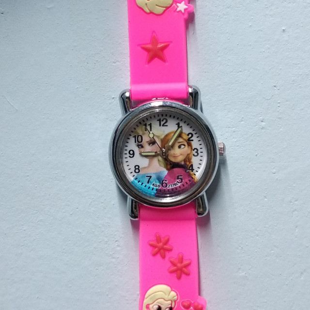 Cartoon Anime Babie Elsa princess waterproof Kids Watches Fashion Children Quart