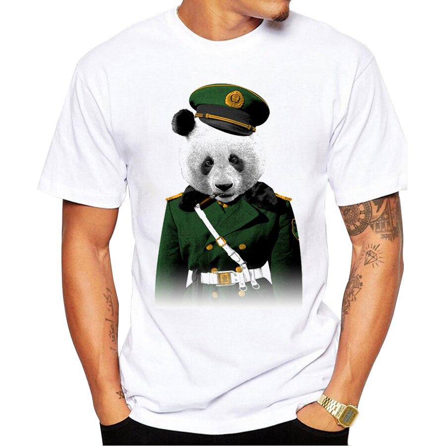 Shirt design boy 2016 - 2016 Creative Son Of The Red Army Design Men Fashion T Shirt Soldier Panda Printed Tops