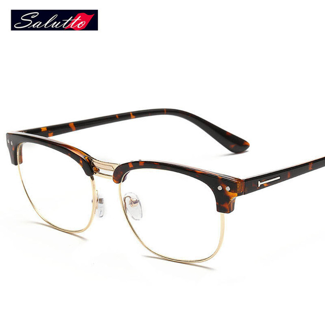 4e598001812 Half Frame Glasses Radiation Protection Computer Clear Fashion Glasses  Eyeglasses Frames For Men And Women Prescription