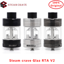 Newest Steam crave V2 31mm &7ml/10ml Capacity Vape tank semi-restrictive airflow by AFC adjustment Electronic cigarette Atomizer original steam crave glaz rta 30mm rta 7ml rta bottom angled airflow design atomizer 7ml pc tank vs aromamizer plus rdta