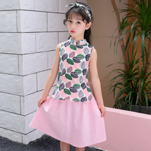 2019 summer childrens clothes girls sets print sleeveless slim cotton kids girl for suits vest and skirt 2 pieces