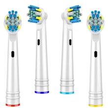 4 PCS Floss Action Replacement Toothbrush Heads for Oral B Toothbrush Head Compatible with Oral-B Braun Toothbrush Heads 24 pcs variety replacement toothbrush heads for oral b toothbrush heads with toothbrush head cover fits oral b toothbrush