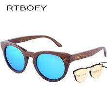 New fashion Sunglasses Women Glass Bamboo Sunglasses Polarized sunglasses au Retro Vintage Wood Lens Wooden Frame Handmade.ZB55
