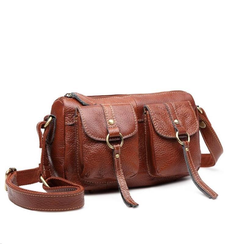 European brand women genuine leather female bag vintage shoulder bags women leather...