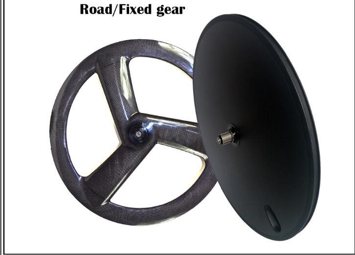 besplatna dostava ugljika fornt 3 žbice stražnja disk kotača - Biciklizam