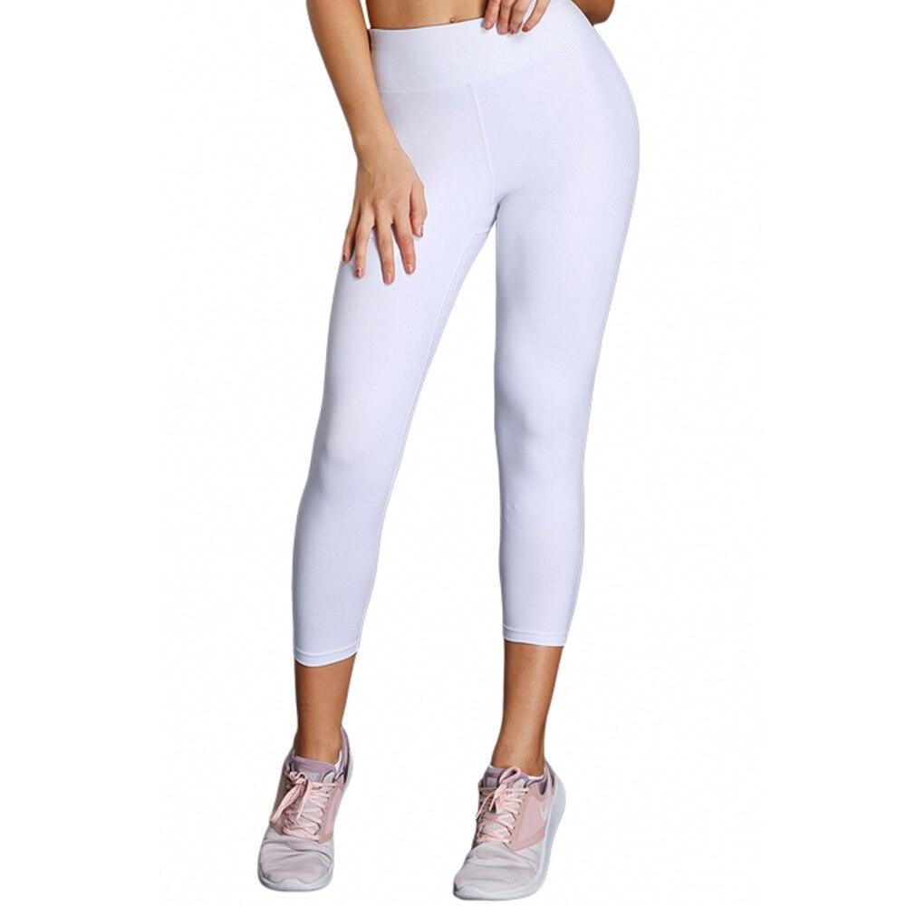 Leggings de Fitness 2019 printemps 3 couleurs taille haute pleine longueur Leggings # LC77128-1