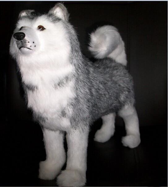 прекрасна постоянна хъски играчка симулация хъски куче кукла подарък за рожден ден около 30cm 1830