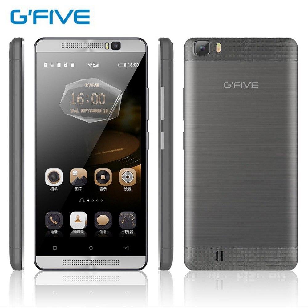 Цена за Оригинал gfive l3 5.5 дюймов hd мобильный телефон 5000 мАч mt6580m quad core 1.3 ГГц смартфон gsm + wcdma двойной мобильный телефон sim карты для android