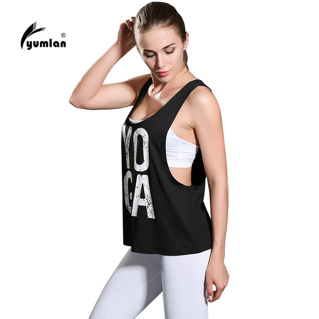 size 40 4cd75 628bb Yumlan Women Yoga Tank Tops Words Active Sports Running Fitness Sleeveless  Shirts Ladies Workout Shirt Sports Vest