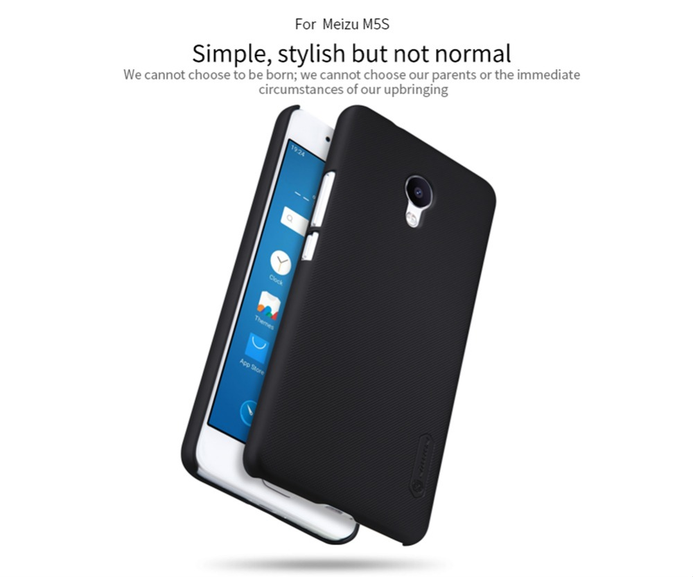 Phone Bag Case For meizu m5s Nillkin Frosted Shield Phone Cases Back Cover PC Matte Top