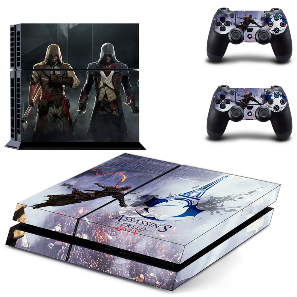 Assassin's Creed Unity PS4 Skin Sticker Decal For Sony PlayStation 4 PS 4 Console and 2 Controllers PS4 Sticker Accessory
