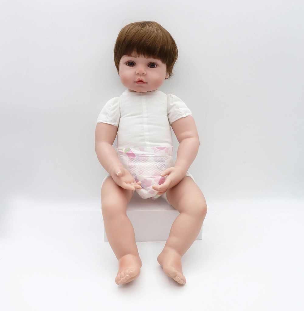 NPK 47 CM Siliconen Reborn Super Baby Levensechte Peuter Baby Bonecas Kid Doll Bebes Reborn Brinquedos Reborn Speelgoed Voor Kids geschenken