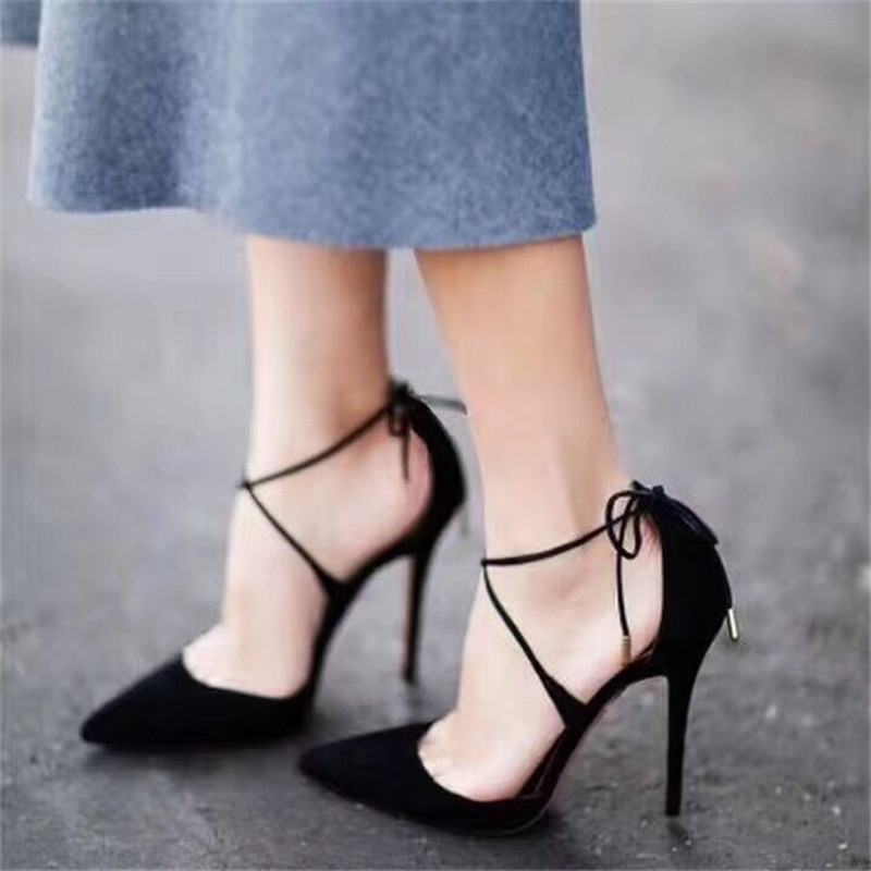 ФОТО 2017 Spring New Style Stiletto High Heels Party Wedding Shoes Woman Sandals Women Pumps Lace Up Summer Women Shoes Zapatos Mujer