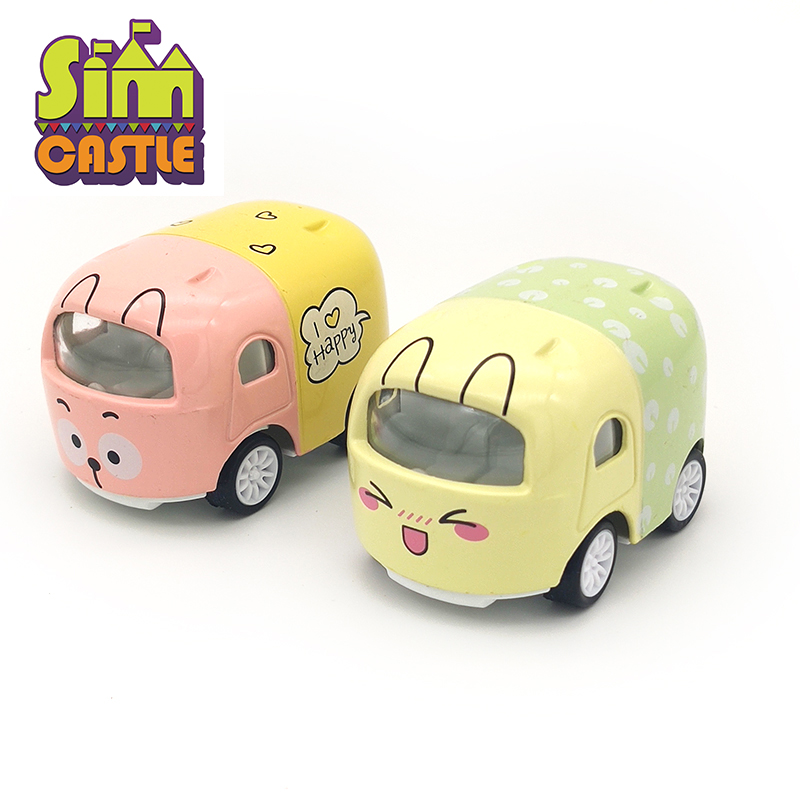 SIMCASTLE Mini Baby Animal Cartoon Car Model 1 43 Diecast Alloy Metal Kids Cars Toys for Children Oyuncak Araba Christmas Gifts in Diecasts Toy Vehicles from Toys Hobbies