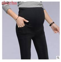 Maternity Cotton beautiful Pants Casual Maternity Clothes Summer Pregnancy Clothing for Pregnant Women Fashion black Trousers(China)
