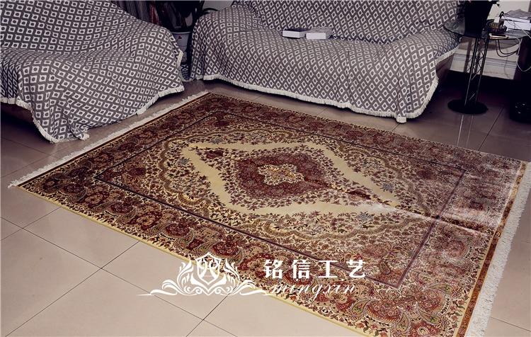 6'x8. 5' ручной работы шелковые ковры персидские шелковые коврики Oriental гостиная
