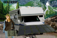 GGX энергии Портативный Панели солнечные складной комплект для караван 4X4 автомобилей Кемпинг Мощность 120 Вт моно солнечных батарей