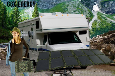 GGX ENERGY Portable Solar Panel Folding Kit for Caravan 4X4 Car Camping Power 120watt Mono Solar Cell