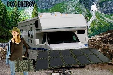 GGX ENERGY Portable Solar Panel Folding Kit for Caravan 4X4 Car Camping Power 120watt Mono Solar Cell