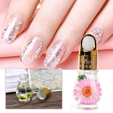 Cuticle Oil Nail Treatment Dry Flower Natural Nutrition Liquid Soften Agent Nails Edge Protection Care Body Health Color Random