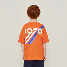 Brand Boy T-shirt Summer New INS Cotton Loose Oversize Short-sleeve Letter1970Printed Kid Girl Solid T-Shirt Top