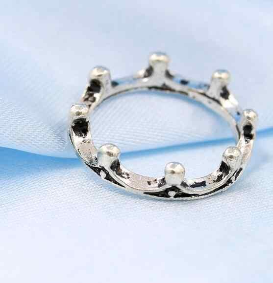 Explosões do moderno europeu e Americano retro moda anel coroa anel 2019 hot Coreano jóias homens e mulheres acessórios de jóias