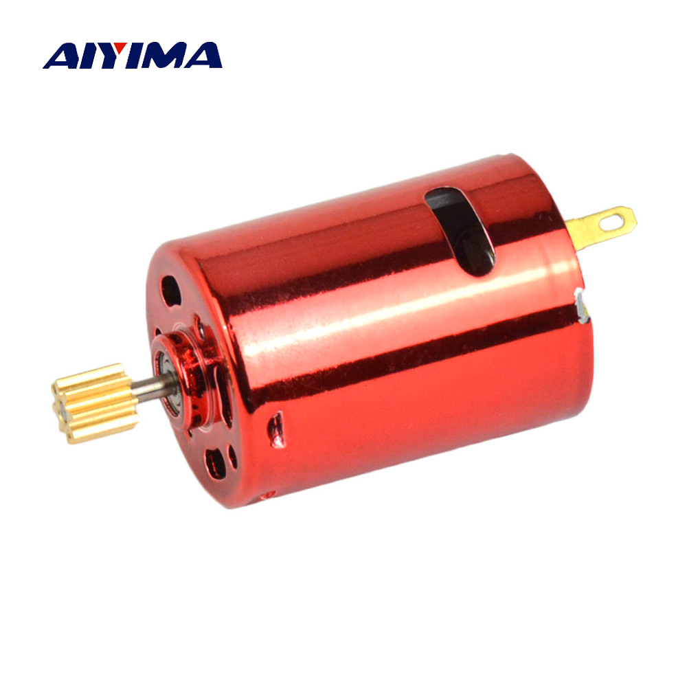 Aiyima Micro 380 Water Bomb DC Motor DC7.4V 11.1V 53000rpm G36 Double Ball Bearing DC Motors With Output Gear