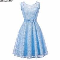 HimanJie Lace Patchwork Women Vintage Dress Autumn Winter Sleeveless Pin Up Rockabilly Plus Size Retro Robe