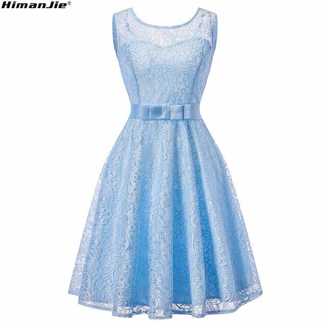 HimanJie Lace Patchwork Women Vintage Dress Autumn Winter Sleeveless Pin Up Rockabilly Plus Size Retro Robe Female Party Vestido