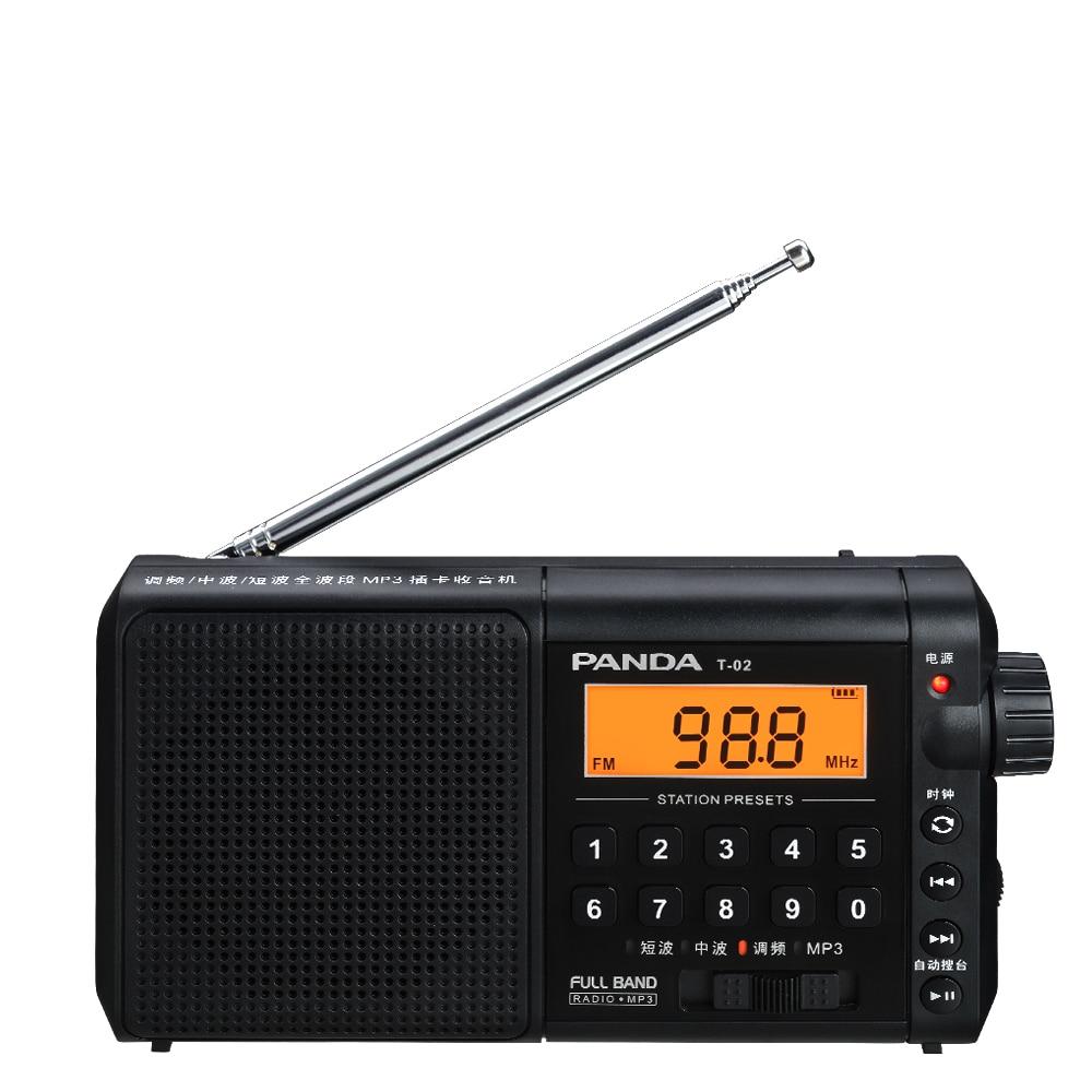 Panda T-02 Radio Alter Menschen Können In Der Charge Card Semiconductor Beweglicher Fm Broadcast Bequem Zu Kochen Tragbares Audio & Video Radio