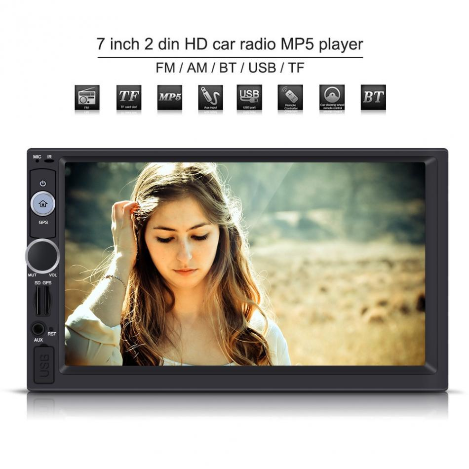 7 Inch Car Radio Player 2 DIN HD Touch Screen Bluetooth GPS Car Stereo Radio FM/USB/AUX/MP5 Player Multimedia Car-Styling joyous j 2611mx 7 touch screen double din car dvd player w gps ipod bluetooth fm am radio rds