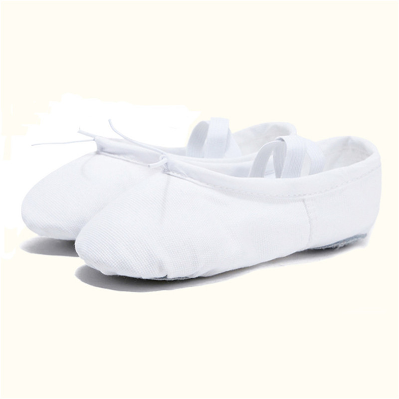 USHINE EU22-45 Cloth Head Yoga Slippers Teacher Gym Indoor Exercise Canvas White Ballet Dance Shoes For Kids Girls Woman