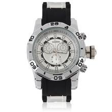 Красавцы мужская Спорт Военная Кварцевые Часы Super Cool Большой Круглый Циферблат Аналогового Наручные Часы с Силиконовой Лентой Часы relogio