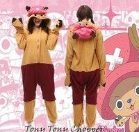 Gorący śliczne anime one piece chopper onesie kigurumi cosplay costume fancy dress kapturem piżamy piżamy hurtownie