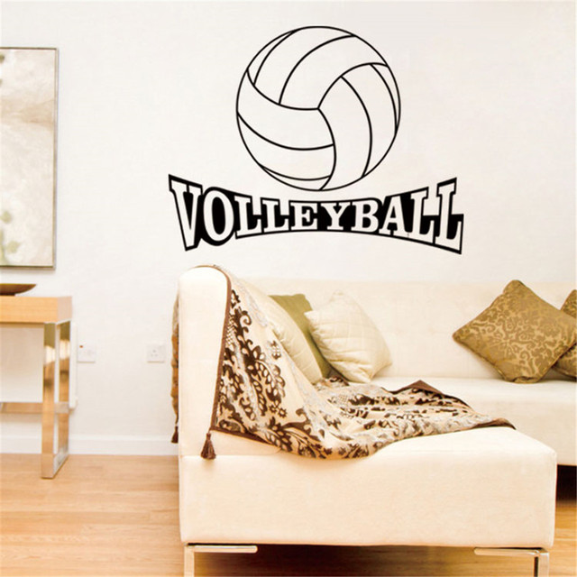 Volleyball Vinyl Wall Decal Stickers for Kids Sport Boy Rooms ...