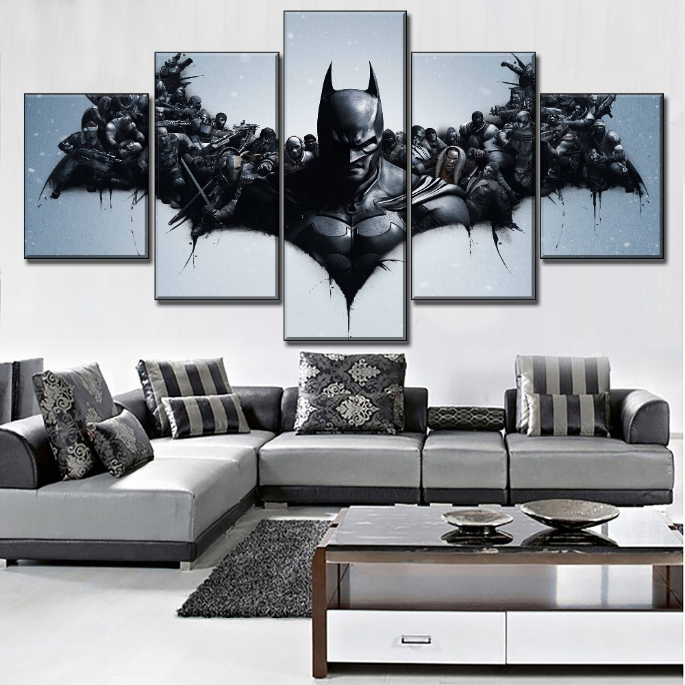 Home Decorative Canvas Print One Set Modular 3 Piece Movie The Dark Knight Rises Batman Painting Modern Wall Art Pictures in Painting Calligraphy from Home Garden