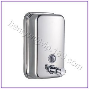 Retail - Luxury Steel Soap Dispenser, Manual Bathroom Liquid Soap Dispenser, 500ML, Free Shipping L15209-Small