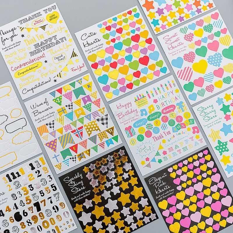Manual creativo de bronce de dibujos animados para niños DIY álbum de pegatinas decorativo cuaderno decoración papel álbum de recortes de manualidades
