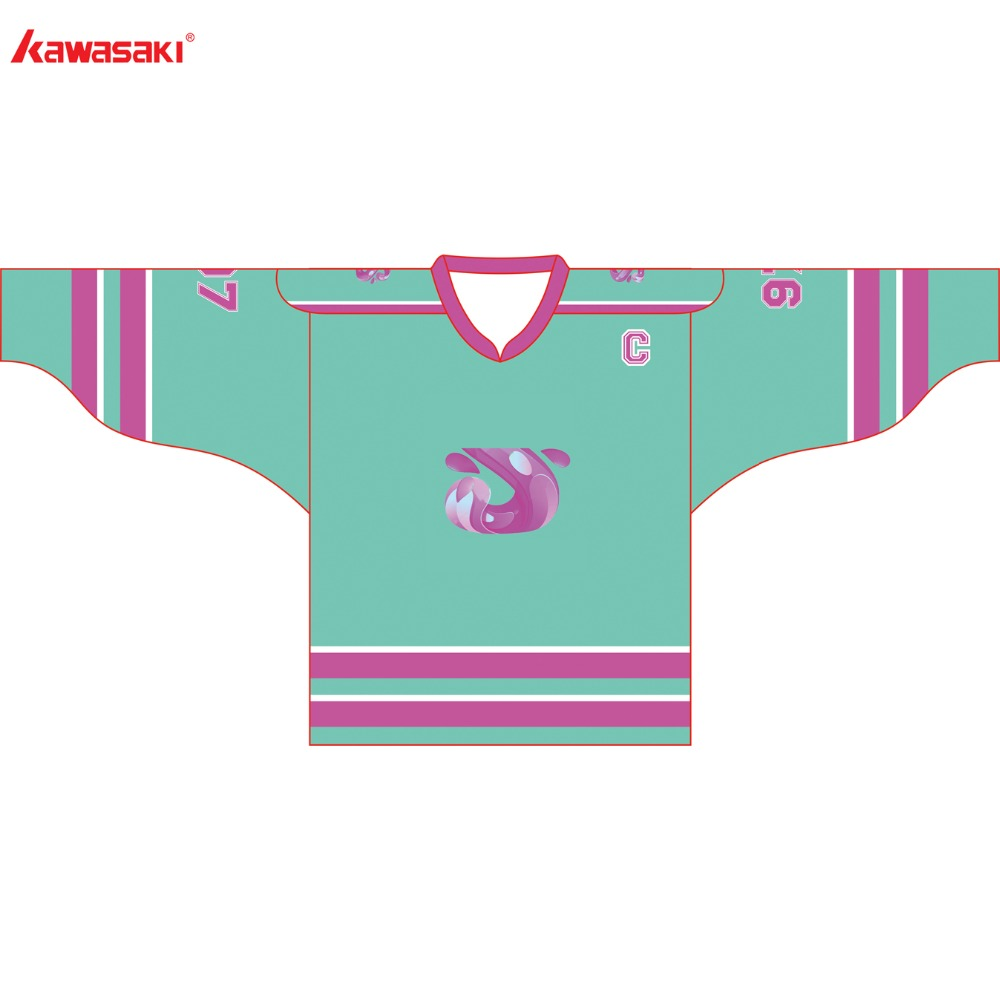 7dcf2012c4b Kawasaki Brand Unisex Ice Hockey Jersey Top American Green Color ...