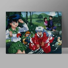 Inuyasha A Feudal Fairy Tale Wall Pictures Anime Canvas Retro Collective Cartoon Painting Bedroom HD Print Hanging