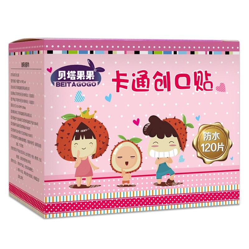 Купить с кэшбэком 120Pcs Cartoon Waterproof Bandage Band-Aid Hemostatic Adhesive For Kids Children  wound bandage  wound bandage  band aid
