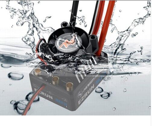 Hobbywing EZRUN MAX10 60A ESC Impermeabile Con 6 V/7.4 V BEC 2-3 S Lipo Regolatore di Velocità Brushless ESC per 1/10 RC Auto Camion F19275