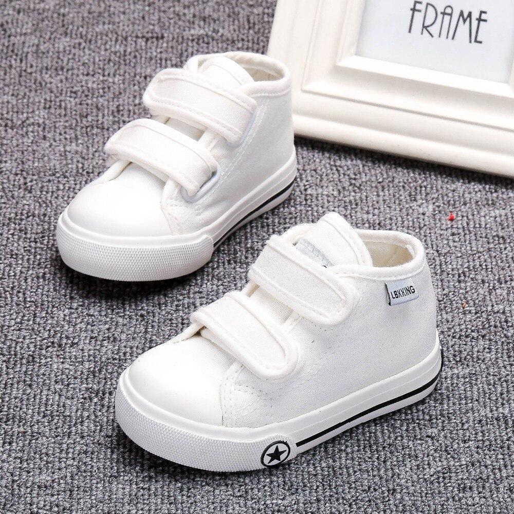 Buty dziecięce białe płótno 4 kolory dla dzieci Dziewczynki i - Buty dziecięce - Zdjęcie 3