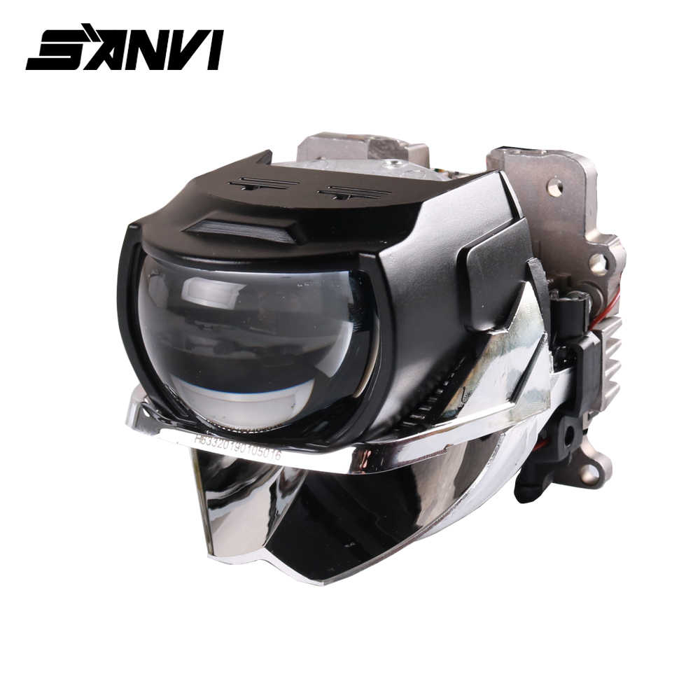 Sanvi H85 H88 H633 Bi Led Projector Lens Headlight 6000K Auto LED Projector Headlight With Dual Chips Dual Reflector