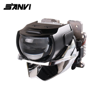 Sanvi H85 H88 H633 Bi Led Projector Lens Headlight 6000K Auto LED Projector Headlight With Dual Chips Dual Reflector