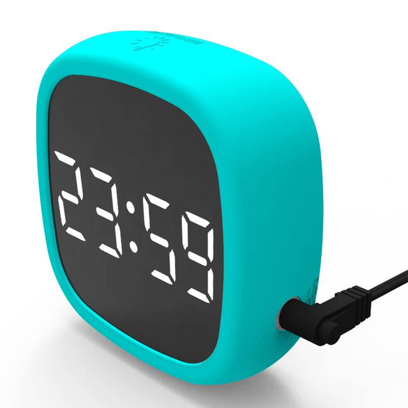 Random Color Multifunction Snooze Clock Function Thermometer Smart Temperture Humidity Sensor LED Display Digital Thermometer