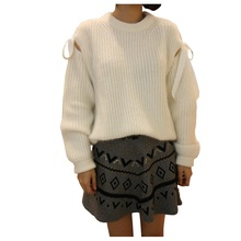 New Winter Sweater Sweet Thick Warm Pullover Strapless Loose Sweaters
