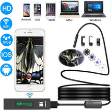 Zwn Wifi Endoscope HD 1200P Waterproof Hard Wire USB Inspection Mini Camera With 8mm lens and