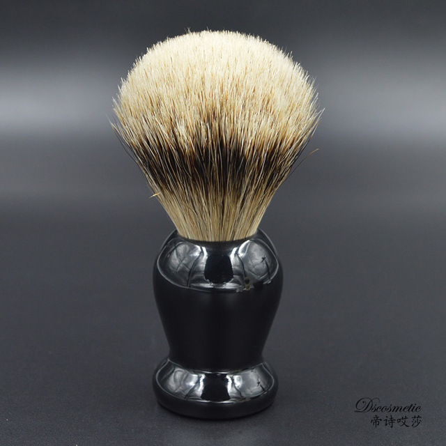 extra density silvertip badger hair shaving brush with resin handle men's grooming kit brush manufacturers